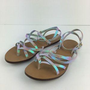 """J. Crew """"Clara"""" Iridescent Sandals"""